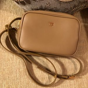 Tom Ford crossbody bag in tan leather